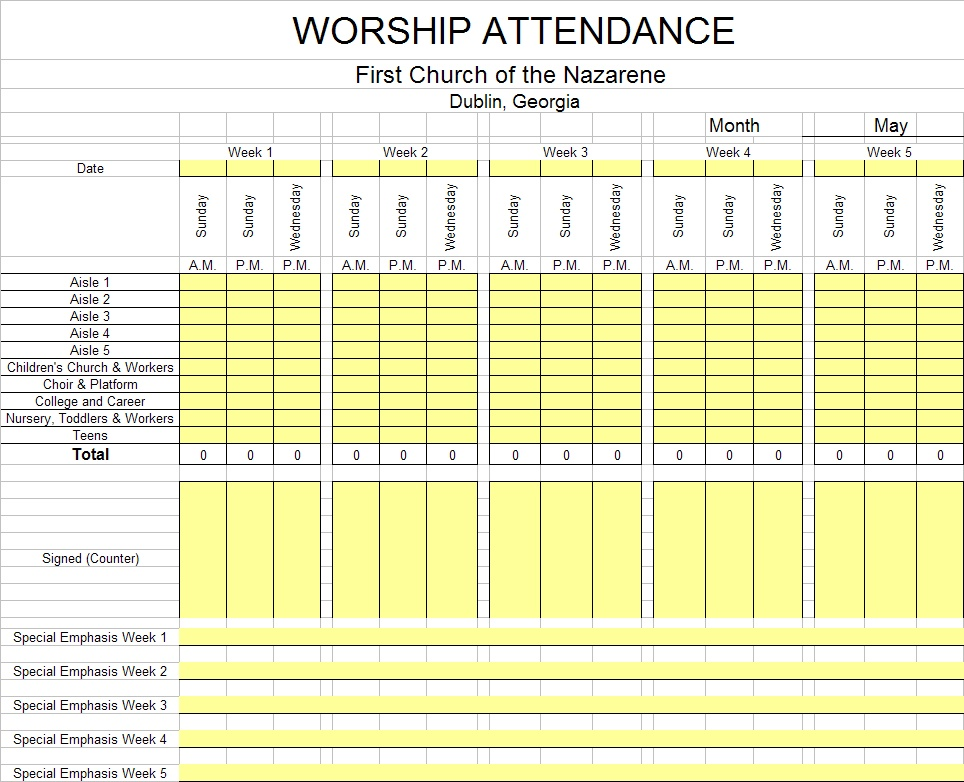 Search results for attendance sheet calendar calendar 2015 for Worship schedule template